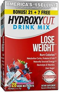 Hydroxycut Pro Clinical Instant Drink Mix Wildberry 2.37oz - 28 Packets
