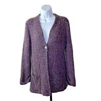 Soft Surroundings Womens Size Small Cardigan Sweater Purple Wool