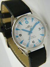 """Reloj Suizo Vintage """"FORTIS"""" con 17 Gemas y carga manual/cuerda C´1960, Funciona"""