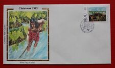"""Clearance - Palau (31) 1983 Christmas, C. Gibbons Paintings Colorano """"Silk"""" FDC"""
