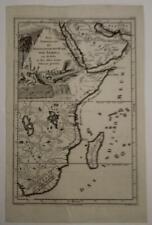 SOUTH AFRICA EASTERN AFRICA 1749 VAN DÜREN UNUSUAL ANTIQUE COPPER ENGRAVED MAP