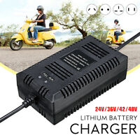 Electric Bike Lithium Battery Charger for 24/36/48V Two-wheel Balance Scooter