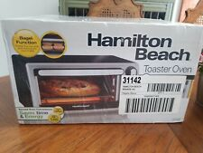 New Hamilton Beach Toaster Oven Bagel Function 2 Racks Adjustable Temperature.