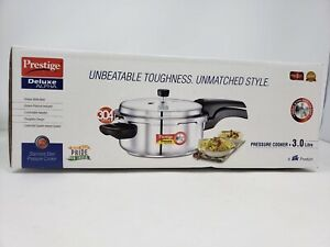 Prestige 3L Alpha Deluxe Induction Base Stainless Steel Pressure Cooker 3.0