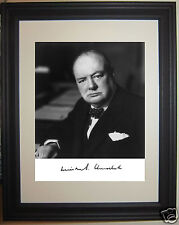 Winston Churchill World War 2 WWII Facsimile Autograph Framed Photo Picture