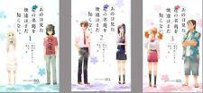 ANO HI MITA HANA NO NAMAE O BOKUTACHI WA MADA SHIRANAI ANIME MANGA BOOK SET #1-3