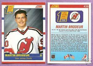 1990-91 Score Martin Brodeur RC New Jersey Devils