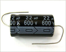 Qty 3 New Miec 22Uf 600V 105C Axial Electrolytic Capacitors
