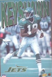 1996 Keyshawn Johnson  New York Jets Original Starline Poster OOP