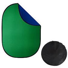 Fond Pliable Réversible DynaSun 2en1 150x200cm Bleu Vert Chromakey pour Studio