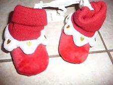 NEW NWT Koala Baby girls 6-12 months red heart soft slippers