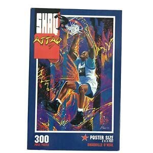 Vintage 1993 '90s Shaq Attaq Puzzle Shaquille O'Neal NBA 24 x 36 Big 300 Pieces