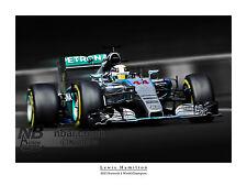 Lewis Hamilton 2015 F1 CAMPIONE DEL MONDO STAMPA ARTISTICA DIGITALE