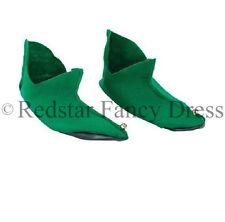 vert elfe CHAUSSURE BOTTES COUVRES Noël déguisement Noël ELFE LUTIN Santa