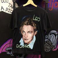 Leonardo DiCaprio Shirt VTG 90s Bootleg Rap Tee Titanic Once Upon Time Hollywood