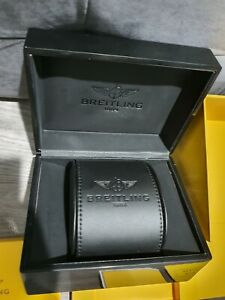 Breitling Watch Box Black Leather Rare Edition Good Condition ((FAST DELIVERY))