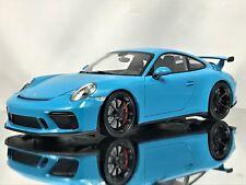Minichamps Porsche 911 (991.2) GT3 991 II Facelift MK2 2017 Miami Blue 1:18