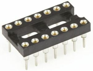 TE Connectivity Economy 800 2.54mm Pitch Vertical 14 Way, Through Hole Stamped p