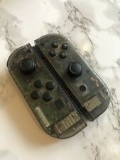 Nintendo Switch Custom Joy Con Transparent Clear Black Grey Controller