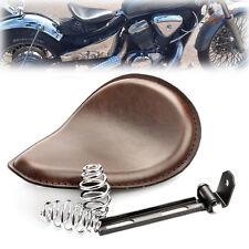 "Solo Motorcycle Brown Seat 3"" Springs Bracket For Harley Chopper Bobber Honda"
