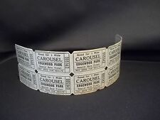 VINTAGE LOT OF 5 TICKETS FOR EDGEWOOD PARK CAROUSEL RIDE IN SHAMOKIN, PA UNUSED