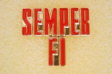 US USA USMC Marine Corps Semper Fi Military Hat Lapel Pin