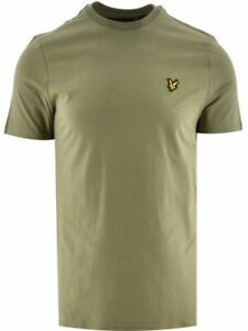 Lyle & Scott Mens Plain T-Shirt in Green - 100% Cotton with Short Sleeves