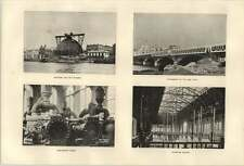 1900 Paris Exhibition Schneider Building Enlargement Pont D'iena