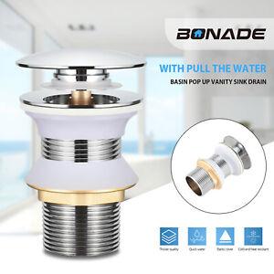 Ablaufgarnitur POP UP Abfluss Ablaufventil Waschbecken Ohne Überlauf Stöpsel DHL