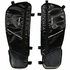 Front Driver Side Carbon Door Bags&Pad For 17-18 Can Am Maverick  X3 Models