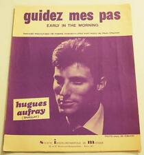Partition vintage sheet music HUGUES AUFRAY : Guidez Mes Pas * 60's