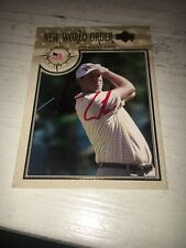 Stewart Cink Signed 2002 New World Golf Card