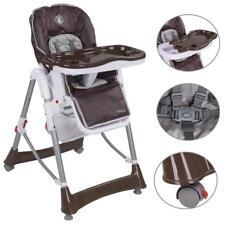 Kinderhochstuhl Treppenhochstuhl Babyhochstuhl Kinderstuhl Verstellbar braun