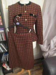 Womens Ladies Eastex Skirt & Jacket Suit Size 12 Wool Blend
