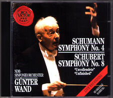 Günter WAND: SCHUMANN Symphony No.4 SCHUBERT Sinfonie 8 Unfinished RCA CD Gunter