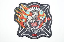 Canadian Fire Department Station Patch 114 Knights of Canterbury Toronto