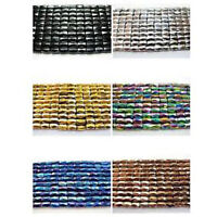 100Pcs Natural Magnetic Hematite Gemstone Faceted Tube Beads Metallic 5x8mm