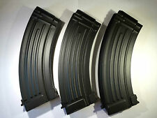 3 PCS BATTLEAXE AK47/74u 600rds Metal Magazine set for Airsoft Marui AEG Hi Cap