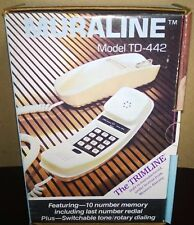 "Muraline ""The TRIMLINE"" Vintage Phone w/Cord Almond Color (P/N TD-442) BOX NEW"