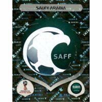 Panini WM 2018 52 Saudi Arabia Arabien World Cup WC 18Wappen Logo Glitzer Foil