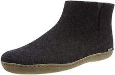 Glerups Model G Womens Charcoal Wool w/ Leather Sole Low Boot Slipper US 5.5-6 M
