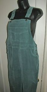 VTG Corduroy Bib-Overalls pants Women's wale-less stretch-cotton North Style M-L