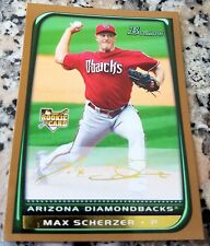 MAX SCHERZER 2008 Bowman GOLD SP Rookie Card Logo RC 3 CY Young 2 No Hitters $$$