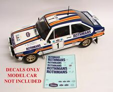 1:18 DECALS FOR IXO ALTAYA 1:18 FORD ESCORT 1981 ACROPOLIS RALLY ARI VATANEN