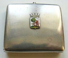 Russian Imperial Silver 84 Enamel Cigarette Case LIBAU 1980s - 1890s