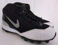 Nike LT SHARK Kids Youth Black White Silver Football Cleats 319008-001 Sz 5Y