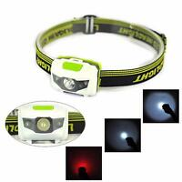 Waterproof 300LM R3+2LED Mini Headlight Headlamp Flashlight Torch Lamp Lights US