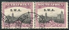 1927 South West Africa Sg 60 2d grey and maroon Fine Used Pair