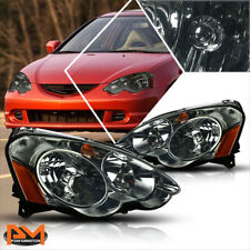For 02-04 Acura RSX DC5 Headlight/Lamps Smoked Housing Clear Lens Amber Corner