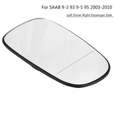 Left Driver Heated Plastic Backed Door Wing Mirror Glass For SAAB 9-3 93 03-10